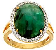 As Is Graziela Gems Gemstone White Zircon Sterling 18K Plated Ring - J326399