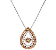 Dancing Diamond Pendant, Sterling, 4/10 cttw, by Affinity - J330299