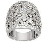 TOVA Diamonique Lace Design Band Ring, Sterling - J330799