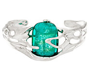 Kalos by Hagit Sterling Silver and Glass Galilee Cuff - J335799