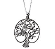 Or Paz Sterling Family Tree Pendant w/ Chain - J338299