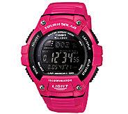 Casio Womens Pink Tough Solar Illuminator Sport Watch - J339299
