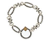 Barbara Bixby Sterling & 18K Textured Link Bracelet 6-3/4 - J339499