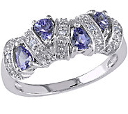 0.55cttw Tanzanite Band Ring, Sterling - J340299