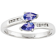 Tanzanite and Diamond Accent Ring, 14K White Gold - J342199