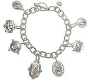 Judith Ripka Sterling 6-3/4 Lucky Charm Bracelet - J342299