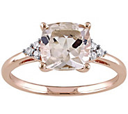 2.00 ct Morganite & Diamond Accent Ring, 14K Rose Gold - J343299