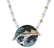 Lee Sands Dolphin Shell Inlay Necklace - J343599