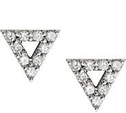 Dainty Designs 14K Diamond Accent Open TriangleEarrings - J345299
