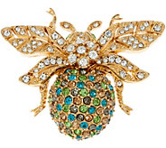 Joan Rivers Private Collection Colorful Pave Bee Pin - J347599