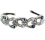 Carolyn Pollack Sterling Silver 1.50cttw Gemstone Cuff - J347799