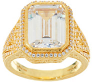 Judith Ripka Sterling & 14K Clad Bold 18.95 cttw Diamonique Ring - J347999