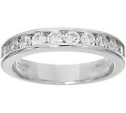 Diamonique 0.75 cttw Channel Set Band Ring, Sterling - J348799