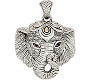 JAI Sterling Silver & 14K Gold Figural Elephant Enhancer, 26.7g - J351699