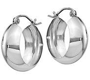 14K Round 3/4 Hoop Earrings - J374799