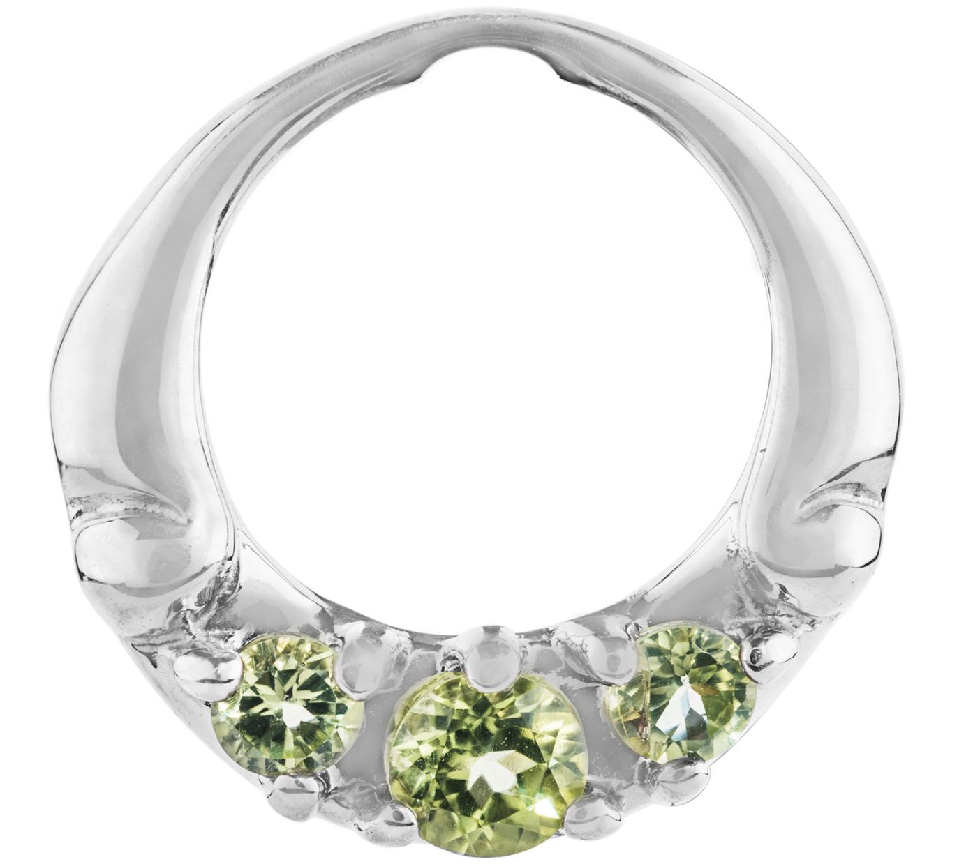 Carolyn pollack sterling silver peridot pendantframe for Carolyn pollack jewelry qvc