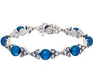 Honora Cultured Pearl&Gemstone Sterling Silver Tennis Bracelet - J58699