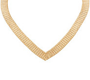 Imperial Gold Wide Wheat Necklace, 14K Gold 56.8g - 63.1g - J60599