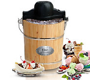 Elite Gourmet 6-qt Old Fashioned Pine Bucket Ice Cream Maker - K302100