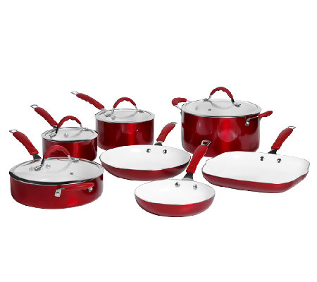 Bella 11 Piece Aluminum Cookware Set Qvc Com