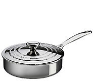 Le Creuset Stainless Steel 3-qt Saute Pan withLid - K303600