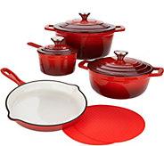 As Is Cooks Essentials 7-pc Gradient Cast Iron Cookware Set - K308000