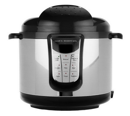 CooksEssentials 5 qt Digital Stainless Steel Pressure Cooker