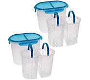 Set of 2 Split Straining Containers by MarkCharles Misilli - K40800