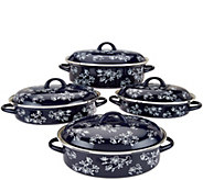 Temp-tations Floral Lace 8-pc Enamel Cookware Set - K44700