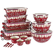 As Is Temp-tations Floral Lace 20 piece Bakeware Set - K307401