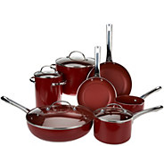 As Is CooksEssentials 12 pc. Porcelain Cookware Set - K307501