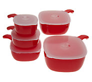 Prepology 5-Piece Microwavable Square Bowl Set - K36601