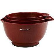 KitchenAid Set of 3 Red Mixing Bowls - K374901