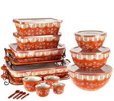 Temp-tations Floral Lace 20-piece Bakeware Set