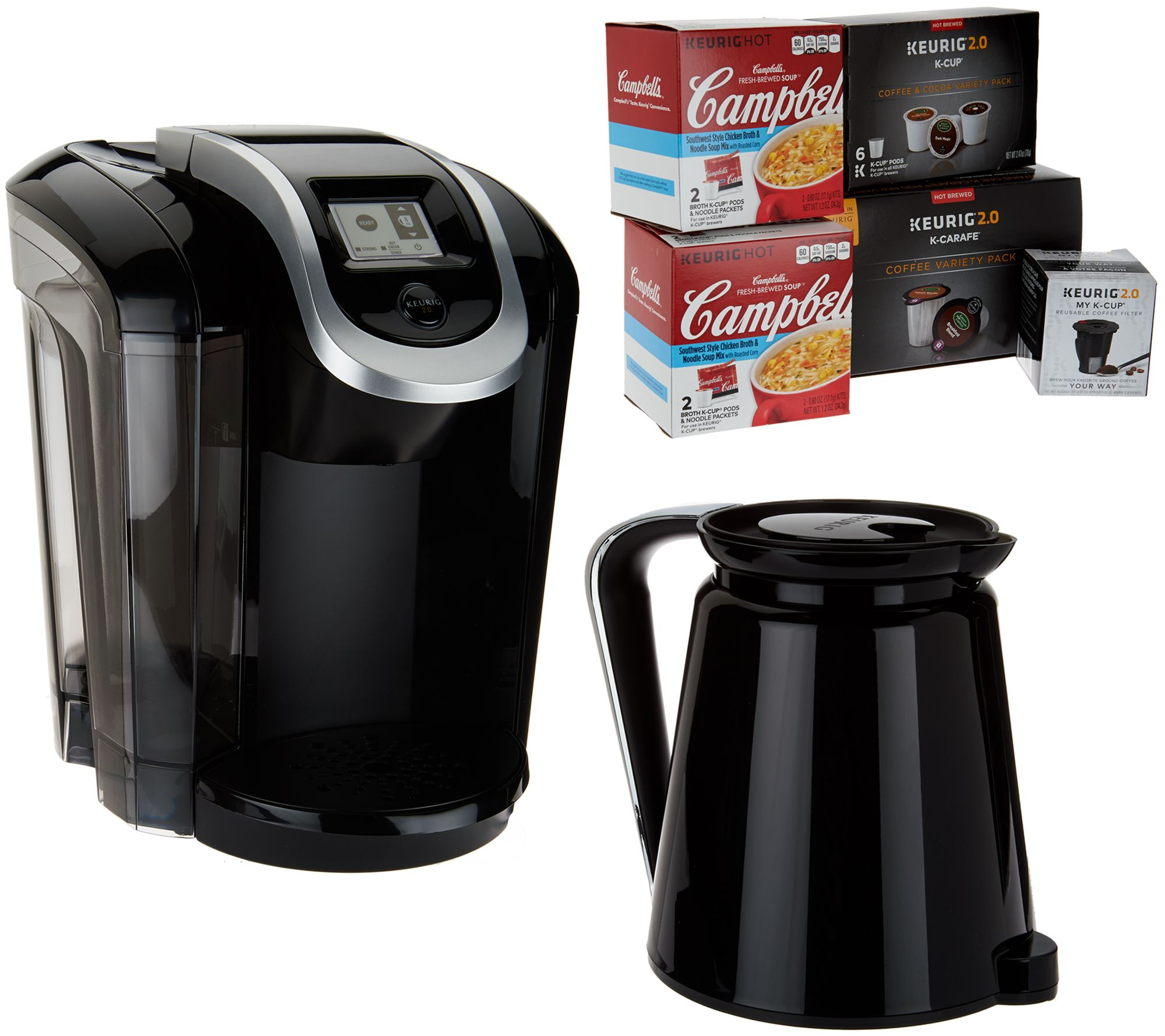 keurig 20 k350 coffee maker w my kcup 10 kcup pods u0026 4 soup kits page 1 u2014 qvccom