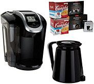 Keurig 2.0 K350 Coffee Maker w/ My K-Cup, 10 K-Cup Pods & 4 Soup Kits - K44401