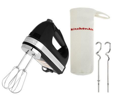 Kitchenaid 721 Series 7 Speed Digital Hand Mixer W Bag Dough Hooks