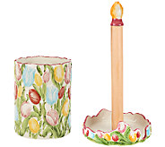 Temp-tations Figural Floral Choice of Paper Towel or Utensil Holder - K42102