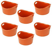Rachael Ray Bubble & Brown Set of 6 10oz. Stoneware Ramekins - K26503
