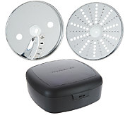 KitchenAid Set of 2 13-Cup Parmesan/Ice and French Fry Discs w/ Case - K42603