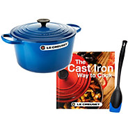 Le Creuset 6.5 qt Round Dutch Oven w/ Cookbook & Saute Spoon - K43203