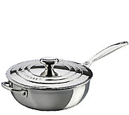 Le Creuset Stainless Steel 3.5-qt Saucier Pan with Lid - K303604