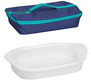 CorningWare French White 3qt Baker and Travel Bag - K305904