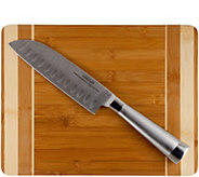 Oneida Cutting Board with Santoku Knife - K306404