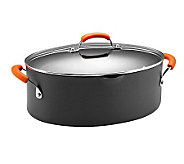 Rachael Ray Hard Anodized II 8qt Oval Pasta Pot- Orange - K298605