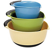 OXO Good Grips 3-Piece Mixing Bowl Set - Blue/Green/Yellow - K305005