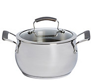 Epicurious Stainless Steel 4-qt Covered Soup Pot - K305605