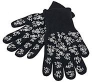 As Is Temp-tations Floral Lace Oven Mitt Set - K307405