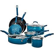 As Is Rachael Ray 11-pc Gradient Porcelain Enamel Cookware - K307905