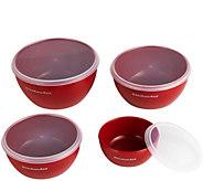 KitchenAid Set of 4 Red Prep Bowls - K374905